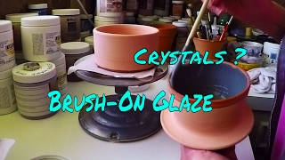 Applying Brush-On Glaze-Will Crystals Make a Difference?  Throwing/Pottery/Wheel/Ceramic/Making/Clay