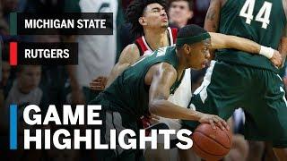 Highlights: Michigan State at Rutgers | Big Ten Basketball