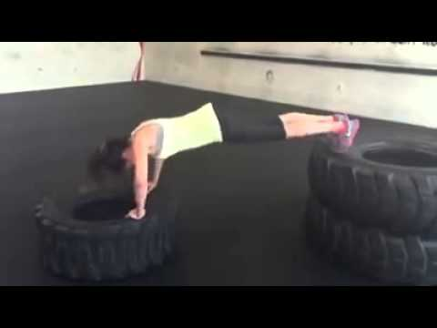 20 Pushup Challenge: Amenzone client Yasmin working with the big boy tires!