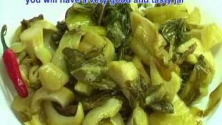 Vietnamese Food How to Make Mustard Green Pickles - Day Nau An Cai Chua
