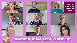 MAMMA MIA! vocal warm-up with West End Cast and Musical Director, Marcus Savage