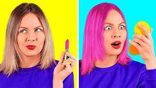 BEAUTY HACKS THAT ACTUALLY WORK! || Funny Makeup Ideas by 123 Go! Live