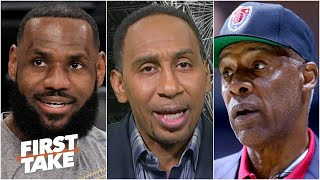 Stephen A. disagrees with Dr. J leaving LeBron off of his top two all-time NBA teams   First Take