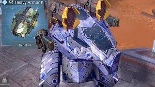 Armored - Up Rhino Smashes Through Enemies | Heavy Robot Brawling | War Robots