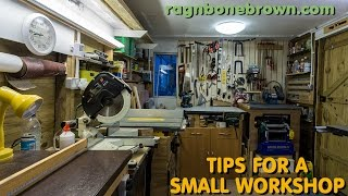 5 Tips For A Small Wood Workshop - making the most of your space
