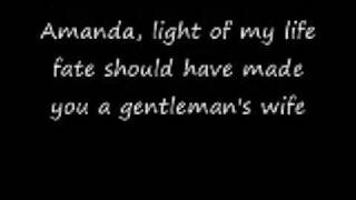 Waylon Jennings - Amanda (lyrics)