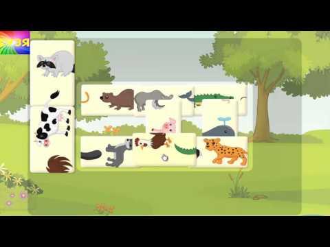 Собираем пазл Учим животных