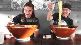 GIANT Ramen Challenge (vs Morgan) (3,000,000 Sub Video!)