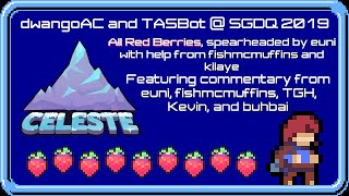 Celeste All Red Berries, but faster than you've ever seen it (TASBot SGDQ 2019 TAS block)