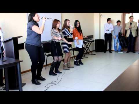 me and friends singing ELKA- na bol'shom vozdushnom share