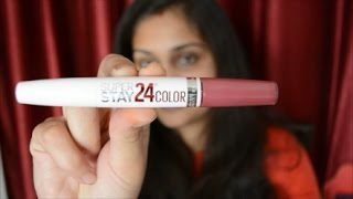 Maybelline New York Superstay 24 Color 2 Step Lipstick   Review and Swatch   Nidhi Katiyar