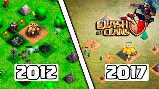 COMO ERA O CLASH OF CLANS EM 2012! PRIMEIRA GAMEPLAY DO YOUTUBE