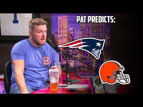 Pat McAfee Predicts The Patriots vs Browns