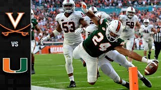 Virginia vs. Miami Football Highlights (2017)