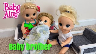 Baby Alive new baby is born lulu baby brother is here