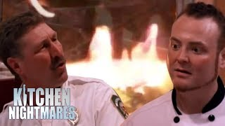 Chef gets roasted by firemen kitchen nightmares for Q kitchen nightmares