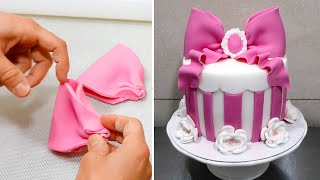 Pink Gift Box Cake - Birthday Cake Ideas by CakesStepbyStep