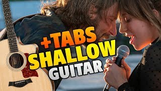 "Lady Gaga ft. Bradley Cooper - Shallow (Fingerstyle Guitar Cover With Free Tabs) [OST ""A Star Is Born""]"