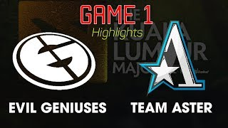 EG vs Aster Game 1 -  Day 1 The Kuala Lumpur Major  Dota 2