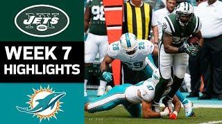 Jets vs. Dolphins | NFL Week 7 Game Highlights
