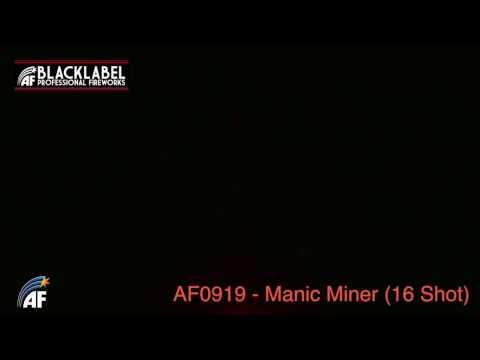 Absolute Fireworks Manic Miner - 16 Shot Firework