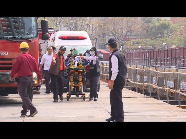 【更新】高雄建案工安意外 10噸地梁倒塌重壓1死3輕重傷