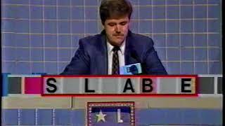 Scrabble 1989 TV Game Show Eric Ogren episode 2 of 4