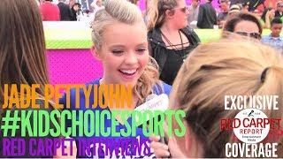 Jade Pettyjohn #SchoolofRock interviewed at 2017 Nickelodeon's Kids' Choice Sports Orange Carpet
