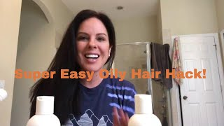 Super easy trick to stop oily hair!
