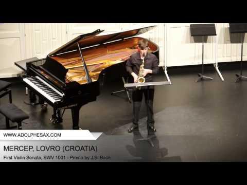 Dinant 2014 - Mercep, Lovro - First Violin Sonata, BWV 1001 - Presto by J.S. Bach