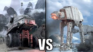 Republic Juggernaut vs Imperial AT-AT Walker - Star Wars Versus