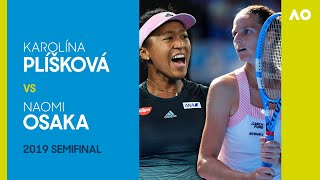 KarolinaPliskova vsNaomiOsaka in a three-set thriller! | Australian Open 2019 Semifinal