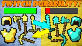 If Diamond and Gold Tools Switched Durability - Minecraft