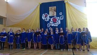 Święto Szkoły w ZPO im. JPII w Gościeradowie cz3.Występ chóru szkolnego.