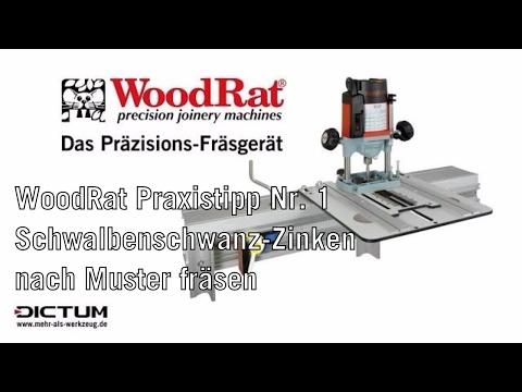 Praxistipp nr 1 schwalbenschwanz zinken for Leigh isoloc hybrid dovetail templates