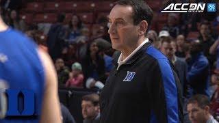 Duke's Coach Krzyzewski Teaches Fundamental Habits Through Basketball   ACC Coaches & Community