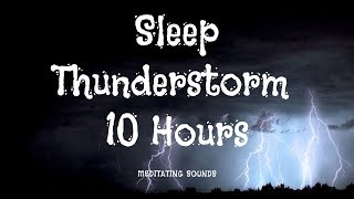 10:00:01 Thunder and Rain Sounds for Sleeping or Studying or Relaxation | 10 Hours