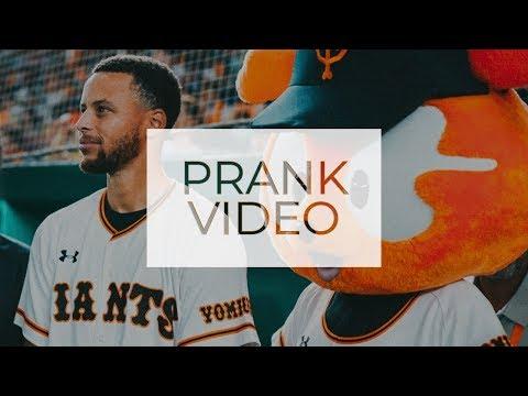 Stephen Curry Pranks His Digital Guy Chris Leach at Tokyo Giants Game