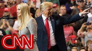 President Donald Trump's awkward rally moment with Ivanka
