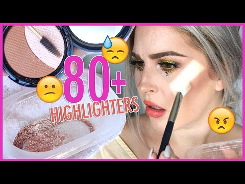 MIXING 90+ HIGHLIGHTERS TOGETHER ??? Underwhelmed...