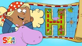 "A Hidden Treasure Hunt on ""H"" Island    Alphabet Cartoon For Kids"