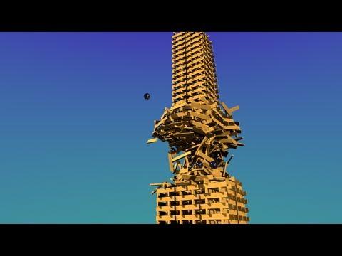Virtual KEVA Destruction — KEVA planks