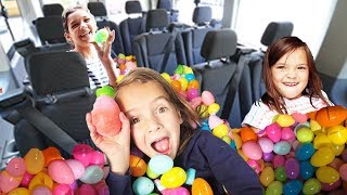 We filled the VAN with THOUSANDS of EASTER EGGS! First to find THEIR Easter EGG WINS!!!