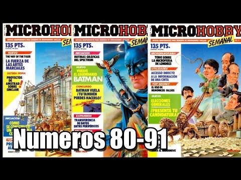 MICROHOBBY COMENTADA  NUMEROS 80-91