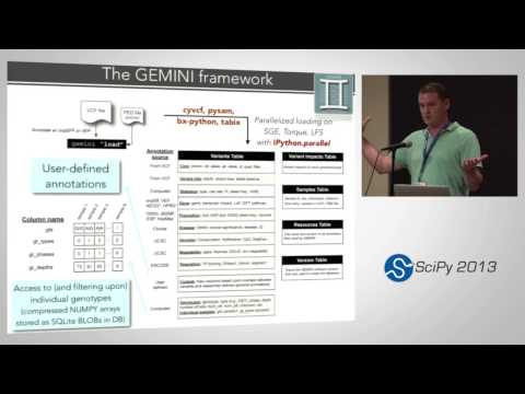 Image from Exploring disease genetics from thousands of individual genomes with Gemini; SciPy 2013 Presentation