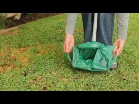 Bag Scooper Pooper Scooper with a Bag User Demonstration