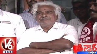 V6 - Left parties ask Gaddar to contest for Warangal MP by..