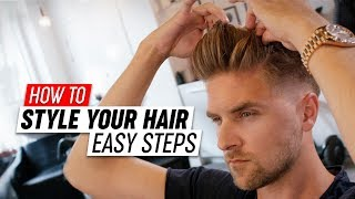 How To Style your Hair | Mens Hairstyle Tutorial | SlikhaarTV - YouTube