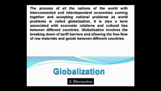 Writing a paragraph in English ( Globalization العولمة