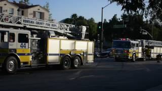 Ventura County Fire Department Fatal Traffic Collision Heavy Rescue Hillcrest Dr